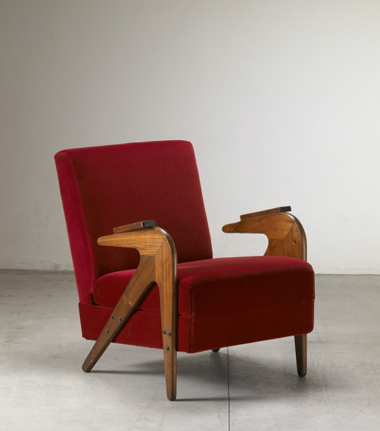 Perfect Brazilian Modern. By Christian Larsen. Tridente Armchair By Lina Bo Bardi,  Ca. 1949