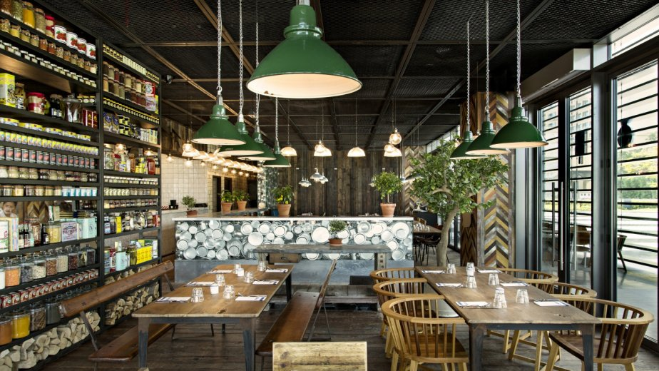 vintage industrial lighting. Skinflint Vintage Lighting At Tom Aikens\u0027s Restaurant Pots, Pans \u0026 Boards Industrial E
