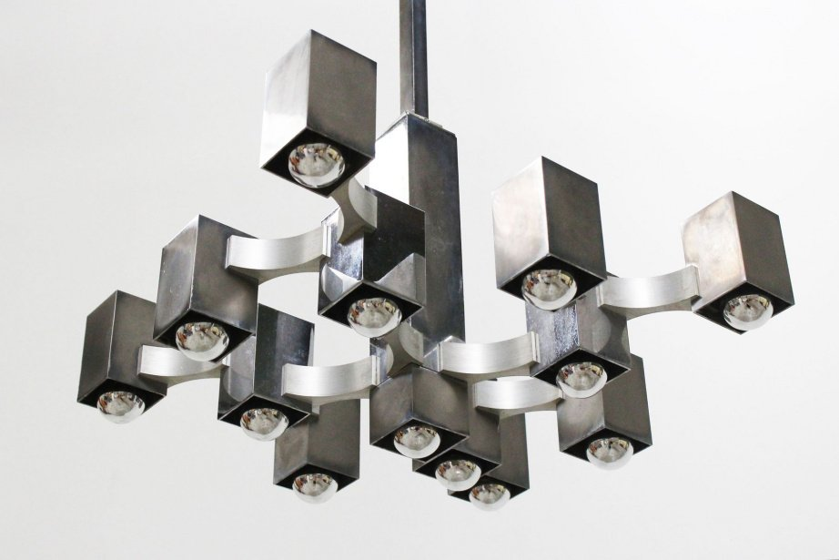 Discover brilliant vintage and contemporary chandeliers in silver, chromer, steel and more