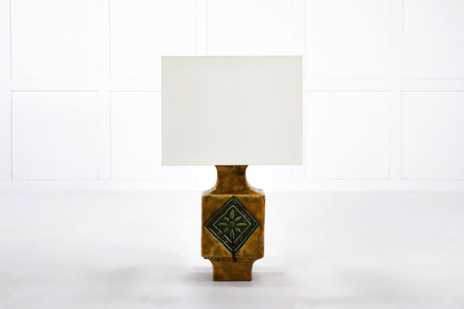 Mid-Century Table Lamps in Stoneware & Porcelain