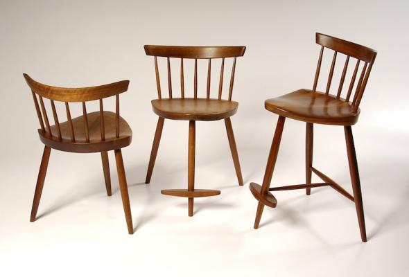 Mira Chairs, Courtesy Of George Nakashima Woodworker, S.A