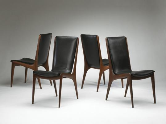 Sculptured Dining Chairs, © Vladimir Kagan