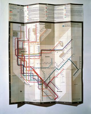Massimo Vignelli Subway Map 1978.Massimo And Lella Vignelli