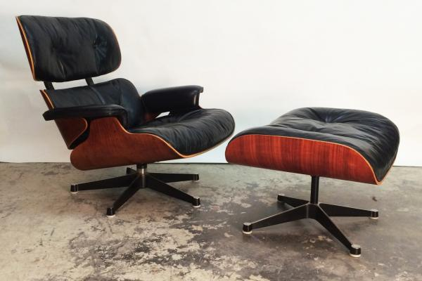 Lounge Chair U0026 Stool By Charles U0026 Ray Eames For Herman Miller, ...