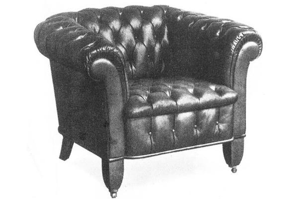The First Club Chair Introduced To Germany In 1907 By The Wilhelm Knoll  Company