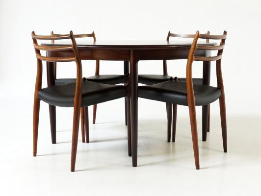 Merveilleux Rosewood Extendable Dining Table By Niels Otto Møller For J. L. Møllers  Møbelfabrik