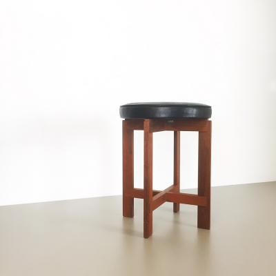 Teak Stool By Uno U0026 Östen Kristiansson For Luxus (1960s)