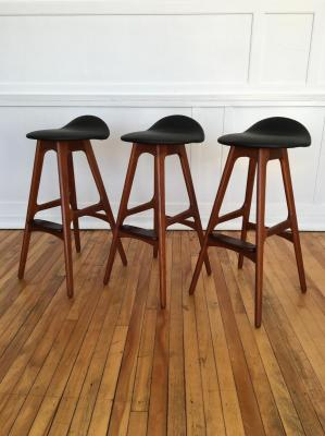 Model 61 Barstool By Erik Buch For Oddense Maskinsnedkeri 1961
