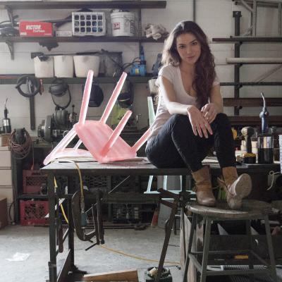 Designer Kim Markel In Her Studio