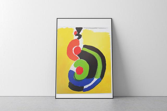 Bold abstract shapes. Paintings, photography and prints in kaleidoscopic brights.