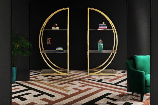 Elegante Kurven und edle Materialien