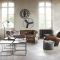 Chesterfield Sofas, Minimalist Tables, Articulated Lamps & Industrial-Age Relics