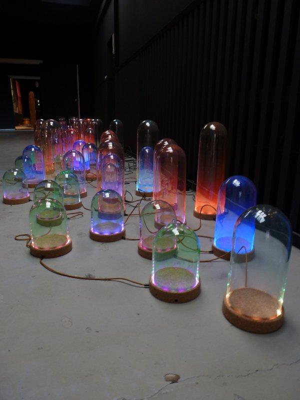 """""""The Nola series: LED lamps"""" by Studio Drift."""