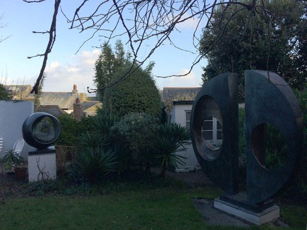 Barbara Hepworth - studio visit - sculpture garden