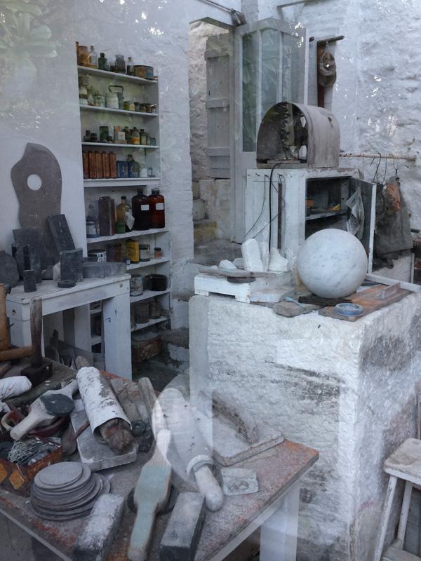 Barbara Hepworth - studio visit - sculpture garden