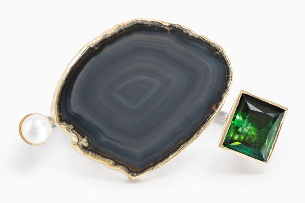 Cecile zu Hohenlohe - CZH ring with green tourmaline - L'ArcoBaleno blog