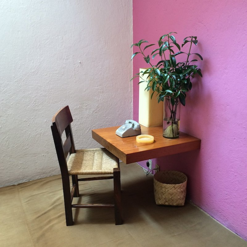 An inviting corner of Barragan's house
