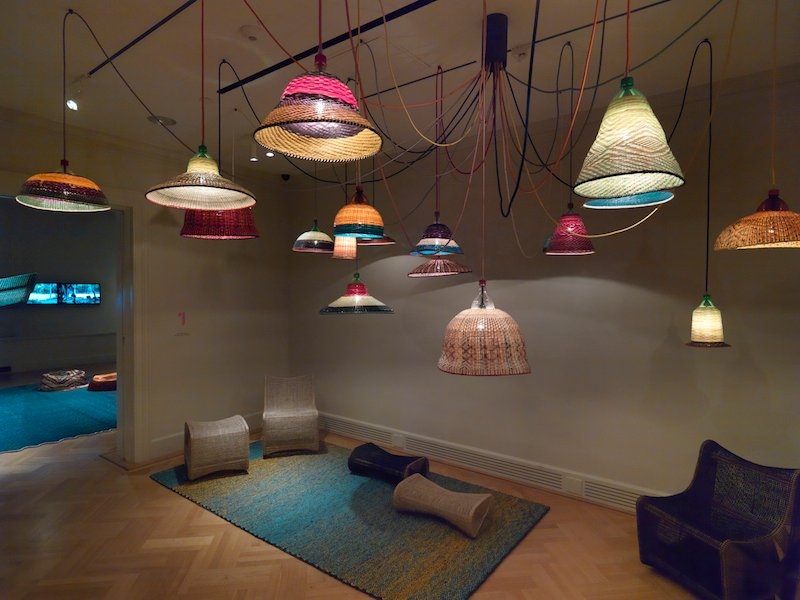 PET lamps; Lucy Salamanca's chairs and stools