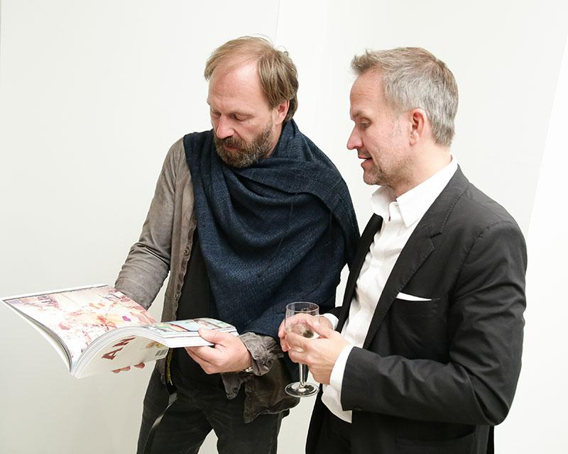 Design Hotels' president Claus Sendlinger and L'AB CEO Oliver Weyergraf