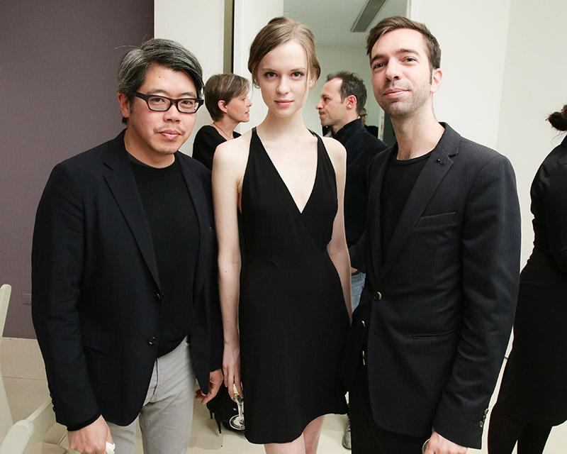 T Magazine's Patrick Li, model Alisha Judge, and artist Alexis Dahan