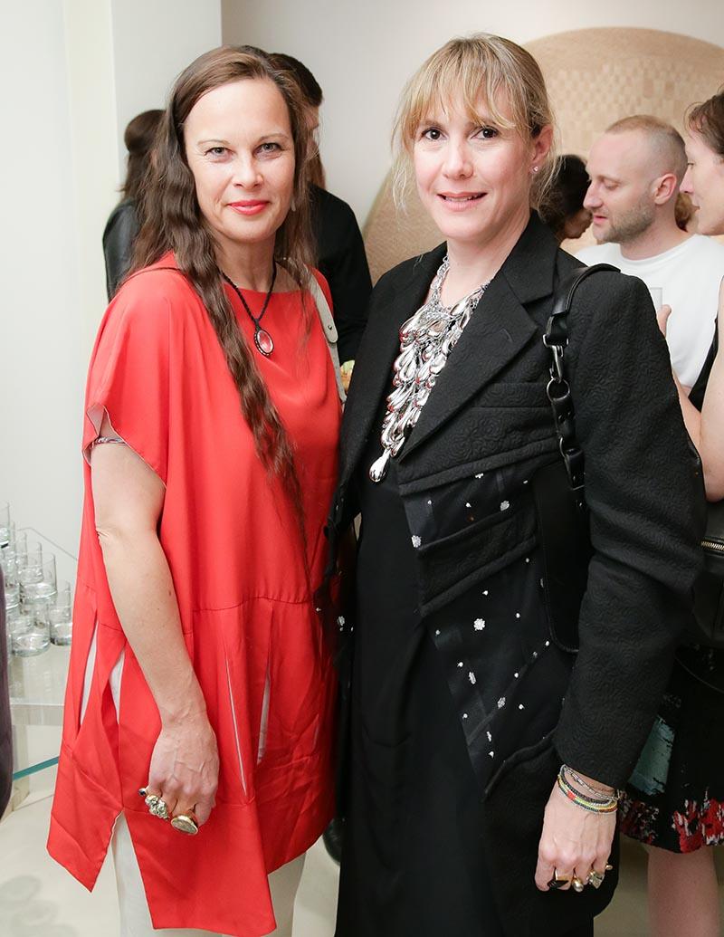 designer Cecile Zu Hohenlohe and Federica Tondato