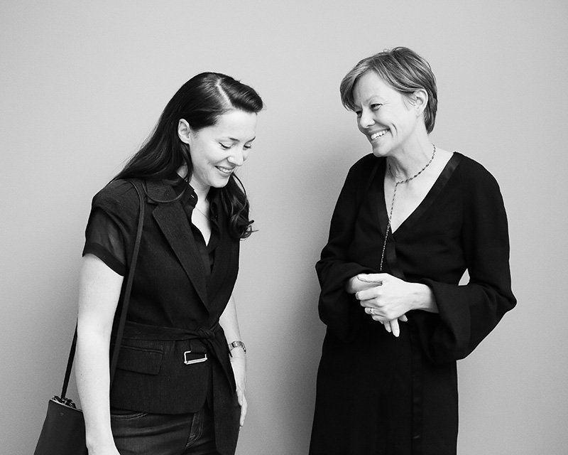 Frieze Masters' Victoria Siddall and L'AB's sales director Tatjana Sprick