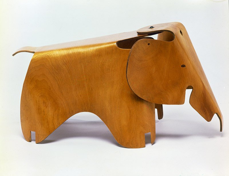 Charles Eames and Ray Eames, Elephant, 1945. Molded Plywood Division, Evans Products Company (Venice, 1943–47). Eames Collection LLC. © The Eames Foundation. Courtesy Eames Office LLC (eamesoffice.com).