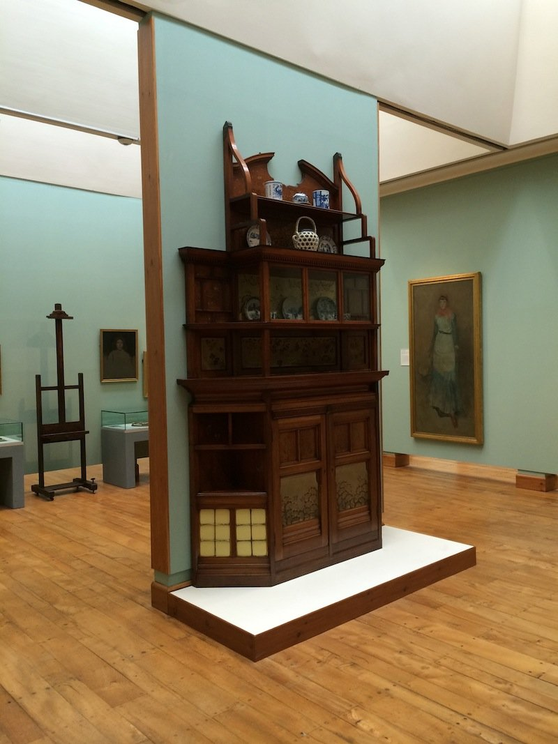 A gorgeous Aesthetic Movement cabinet by Whistler at the Hunterian Art Gallery