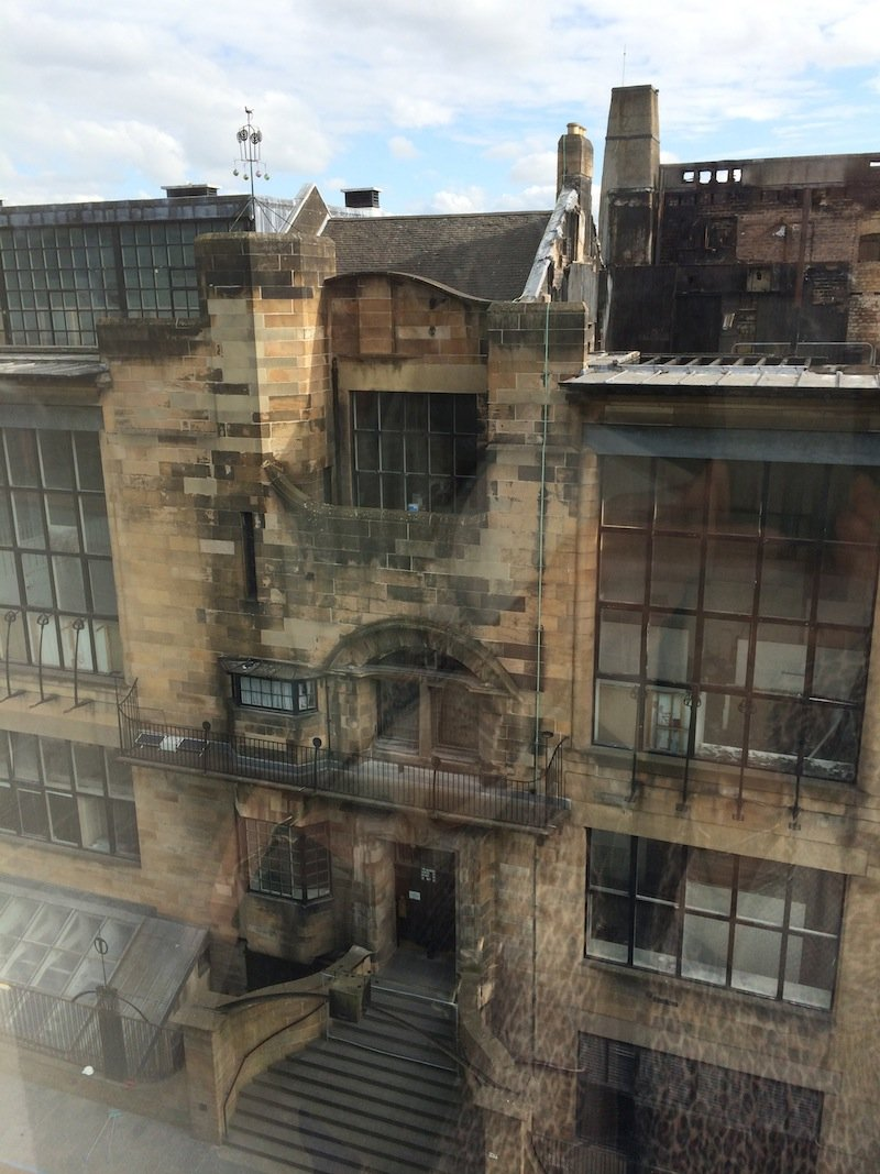 Heartbreaking! The aftermath of the fire at the Glasgow School of Art