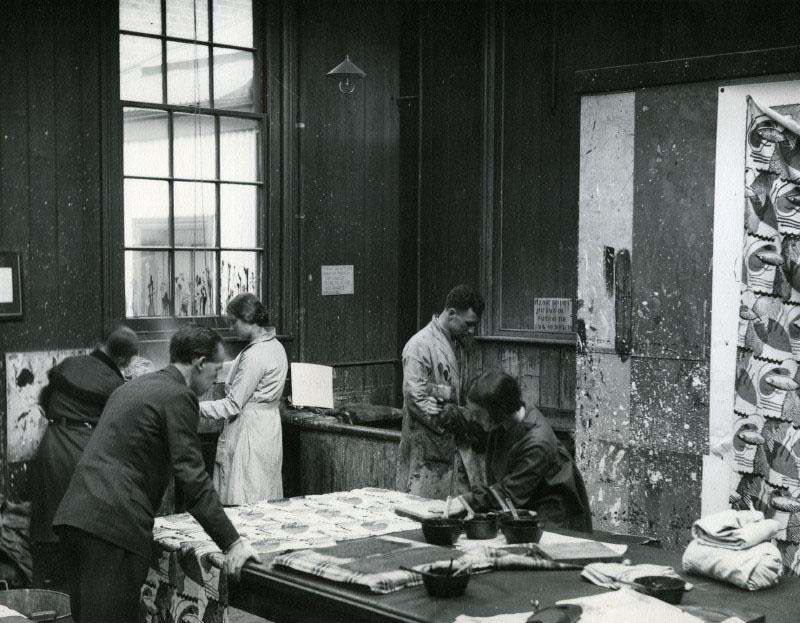 Textile Studio, 1930s, © RCA Archive