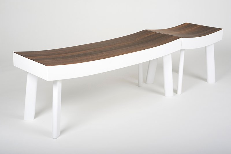 The Ipe Stool also sits perfectly beside the Ipe Bench.