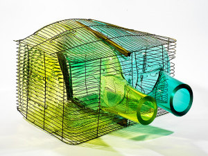 Gala_Fernandez_Green_Blue_Pair_Cage_side_view_MF_Gallery