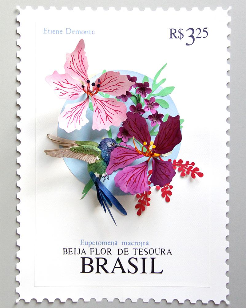 Beltran's Brasil stamp. 2014