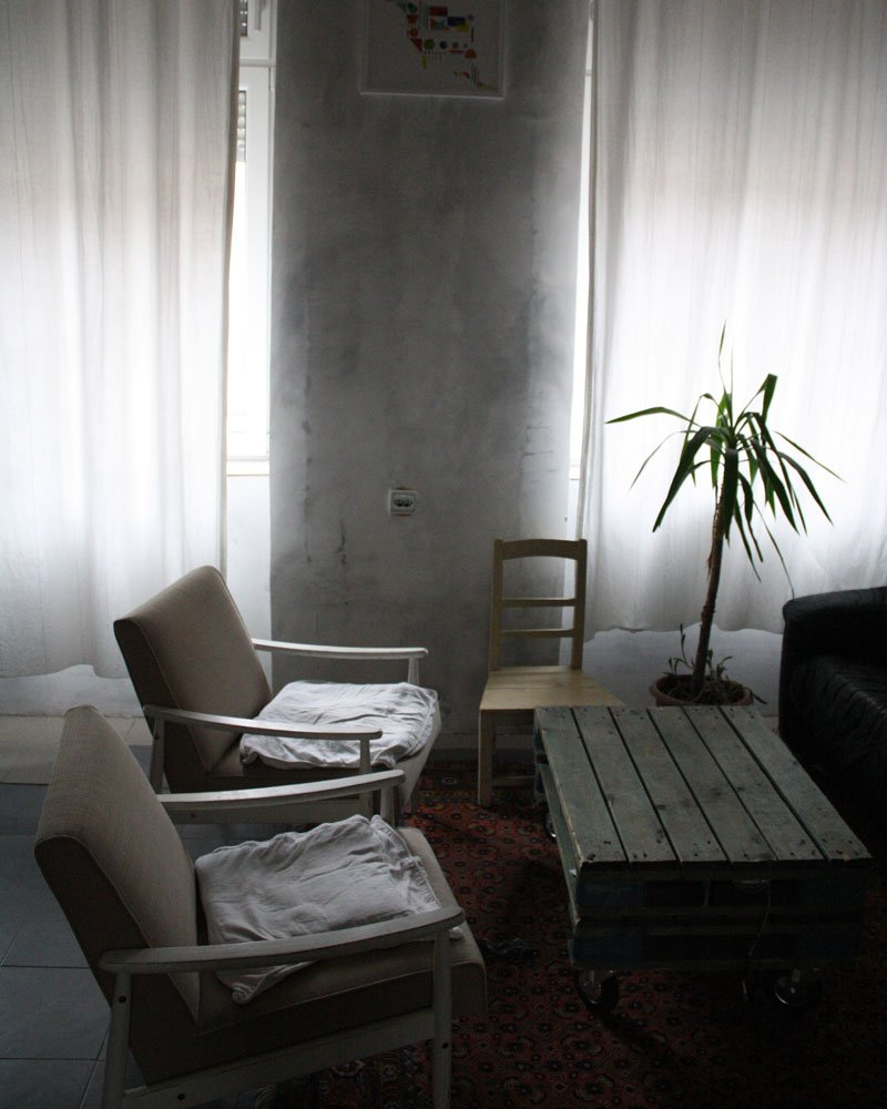 Mandić's apartment, in which she lives and works. The apartment's interiors were done by Lila Design Furniture.