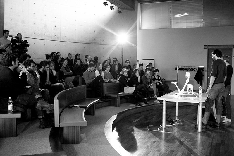 A Fabrica lecture, photo by Marco Zanin
