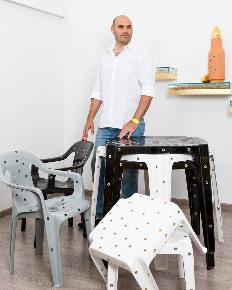 David Elia and the Bullet Chair