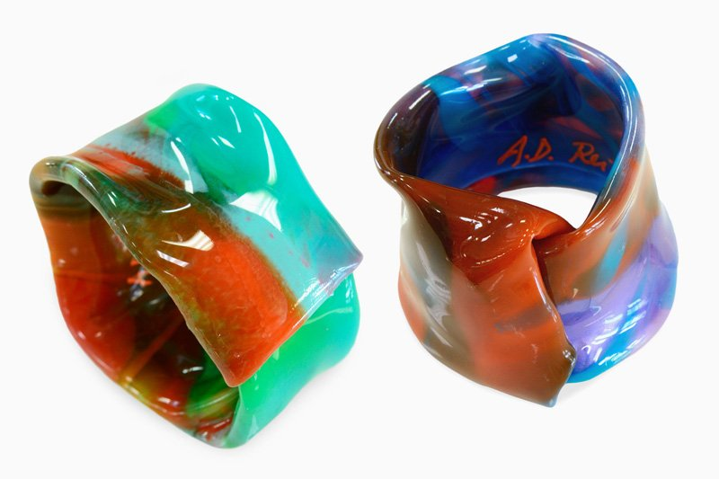 Polychrome Resin Bracelets, 703 and 702