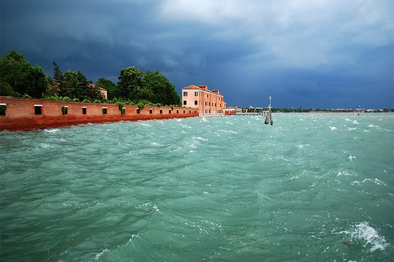 A photograph of the Venetian storm that inspired one of Lightscape's lamps.
