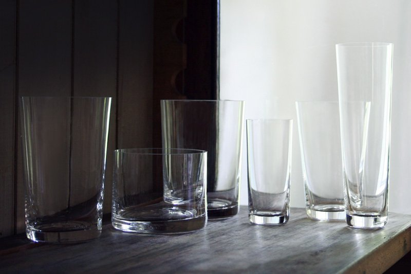 Deborah Ehrlich glassware, courtesy of the designer and L'ArcoBaleno