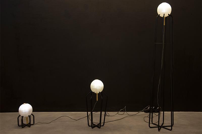 Marc Baroud's Spoutnik lighting family; photo by Tanja Traboulsi.