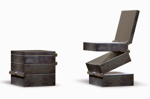Box in Four Movements (1994) by Ron Arad. Courtesy Gabrielle Ammann Gallery