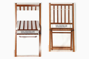 Errazuriz's Kosuth Chair (Three in One, 2014). Courtesy Gabrielle Ammann Gallery