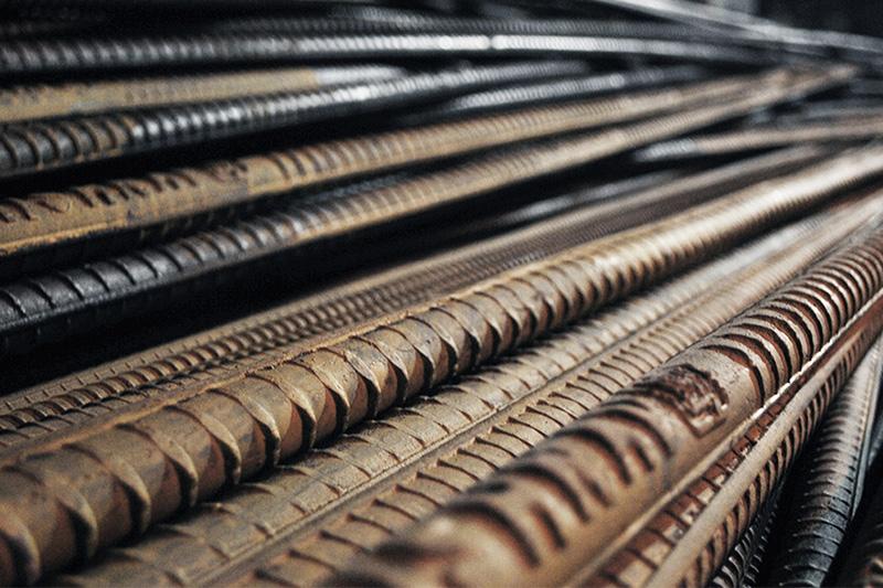 Raw steel rebar © MICROmacro