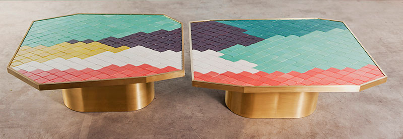 India Madhavi's Landscape Tables, #3 and #4. Photo courtesy of the designer.