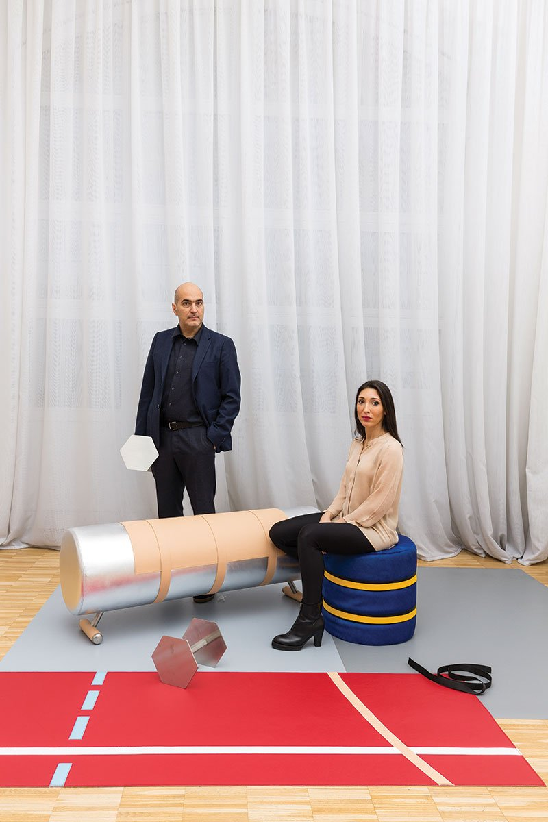 Alberto Biagetti and Laura Baldassari of Atelier Biagetti. Photo by Delfino Sisto Legnani and Marco Cappelletti; courtesy of Atelier Biagetti.