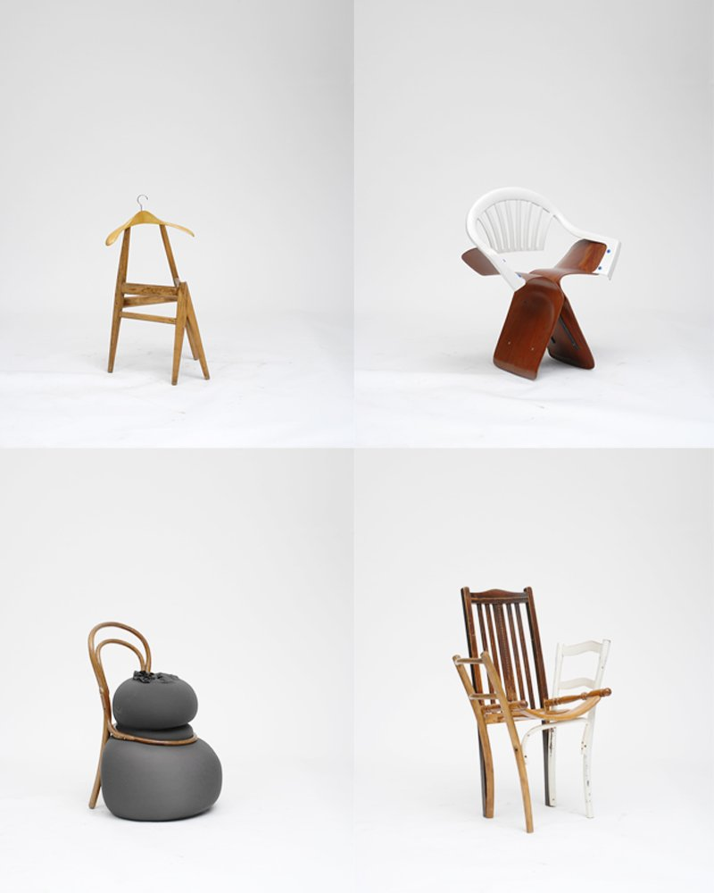 Pieces from Martino Gamper's 100 Chairs collection; photo © Åbäke and Martino Gamper.