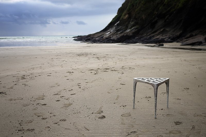 Pewter Stool by Max Lamb; photo courtesy of the designer.