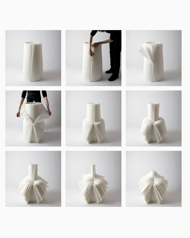 The Cabbage Chair by Nendo. Photos © Masayuki Hayashi; courtesy of Nendo.