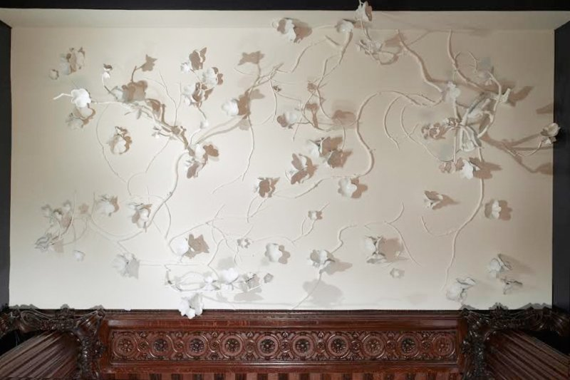 David Wiseman's Cherry Blossom Canopy at the Cooper-Hewitt in New York, 2006. Photo © David Wiseman.