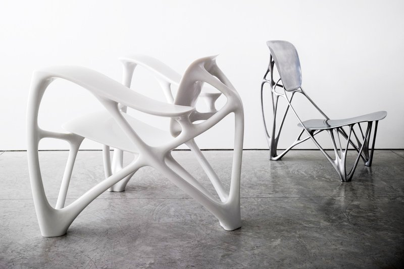 Bone Chairs by Joris Laarman. Photo © Angus Shamal, courtesy of the designer.